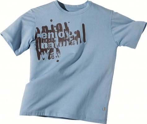 ILLUSTRATION CAMIF sérigraphie sur tee-shirt bleu