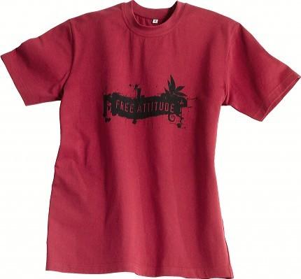 ILLUSTRATION CAMIF sérigraphie sur tee-shirt rouge
