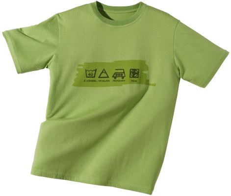 ILLUSTRATION CAMIF sérigraphie sur tee-shirt vert