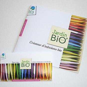 Dossier de Presse Jardin Bio gamme infusion & pochette échantillon
