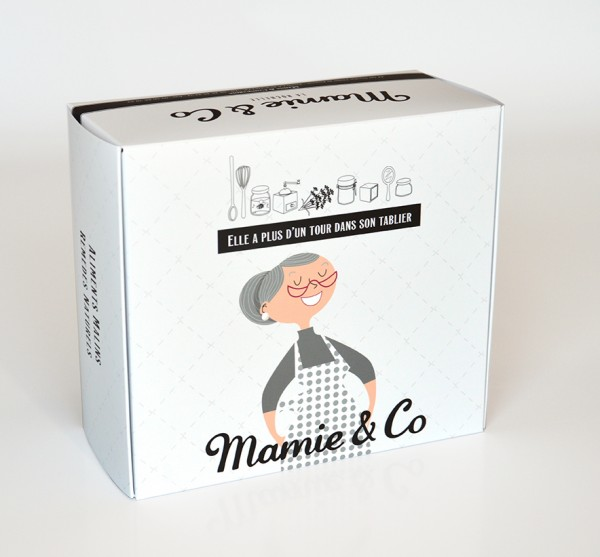 PACKAGING BOX MAMIE AND CO grise
