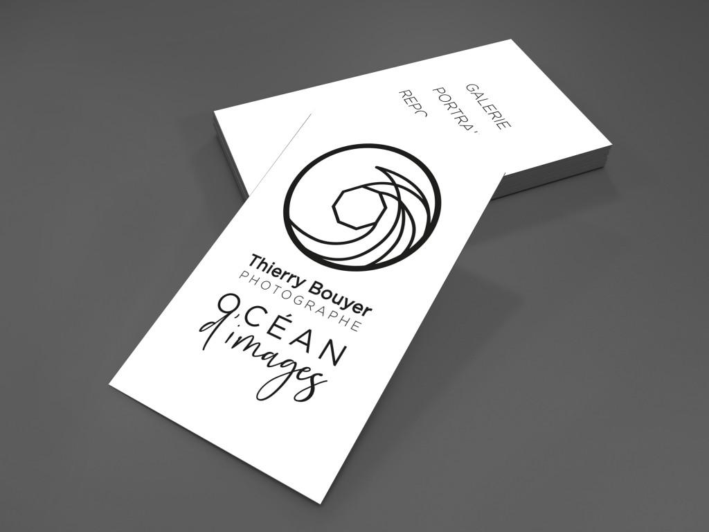Cartes de. visite Océan d'images